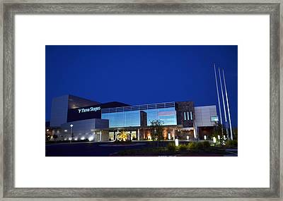 Framed Print featuring the photograph Three Stages At Night by Rima Biswas