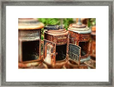 Three Stoves Framed Print by Tamera James