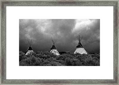 Three Teepee's Framed Print