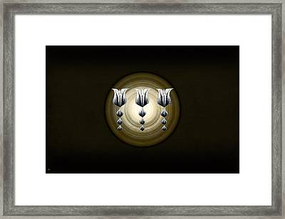 Three Tulips Framed Print by Vidka Art