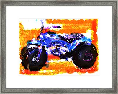 Three Wheels Of Fun Framed Print by Russell Pierce