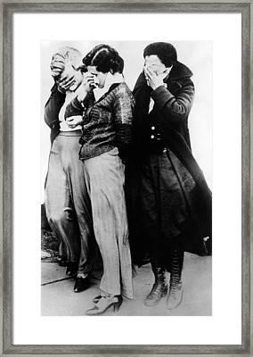 Three Women Who Were With John Framed Print