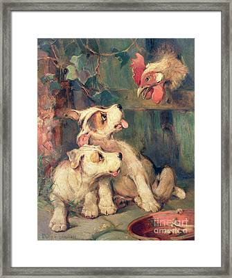 Three's A Crowd Framed Print by Philip Eustace Stretton