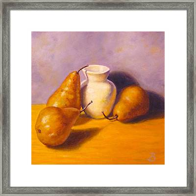 Three's A Pear Framed Print
