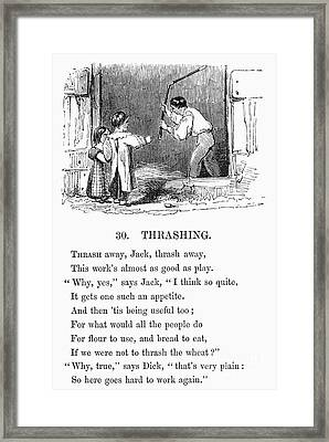 Threshing, 19th Century Framed Print