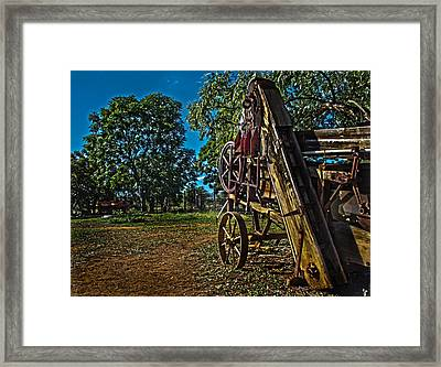 Threshing Machine Framed Print by Ronel Broderick