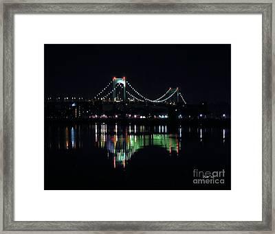 Throggs Neck Bridge Framed Print by Dale   Ford
