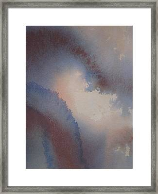 Through The Blue Framed Print by Damon Cureton