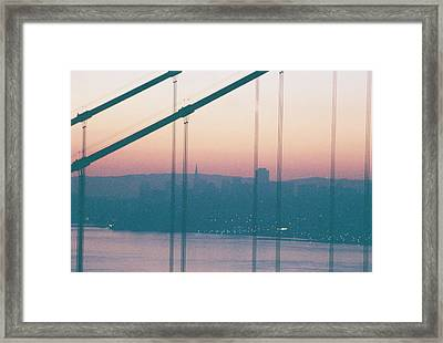 Through The Bridge Framed Print