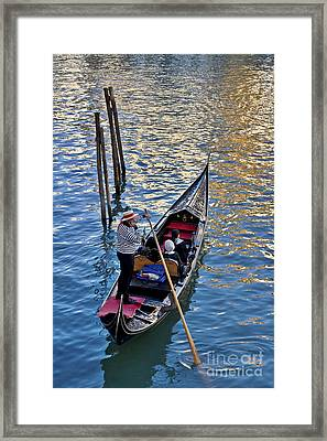 Through The Canals Of Venice Framed Print