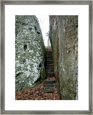 Framed Print featuring the photograph Through The Crack by Paul Mashburn