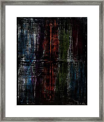 Through The Darkness Framed Print by Terrance Prysiazniuk