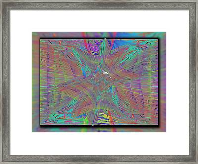 Through The Eye Of The Rainbow Framed Print by Tim Allen