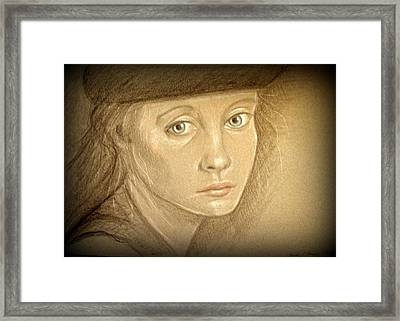 Through The Eyes Of Youth Framed Print by Linda Nielsen