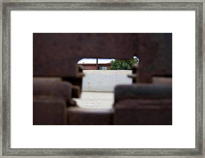 Through The Fence Framed Print by Ivan SABO