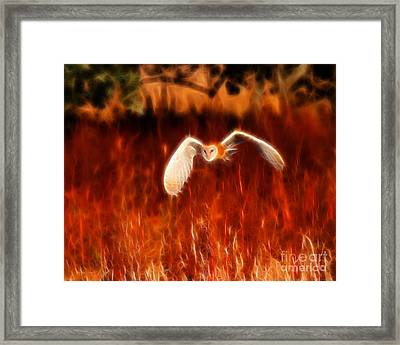 Through The Fire Framed Print by Beth Sargent