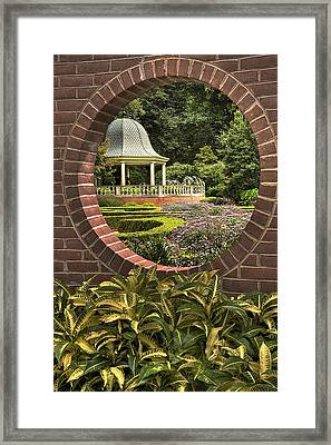 Through The Garden Wall Framed Print by William Fields
