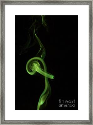 Through The Hoop In Green Framed Print by Lynda Dawson-Youngclaus