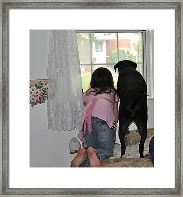 Through The Looking Glass Framed Print by Paul Ward