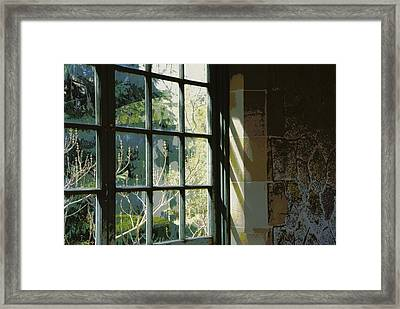 Framed Print featuring the photograph View Through The Window by Marilyn Wilson