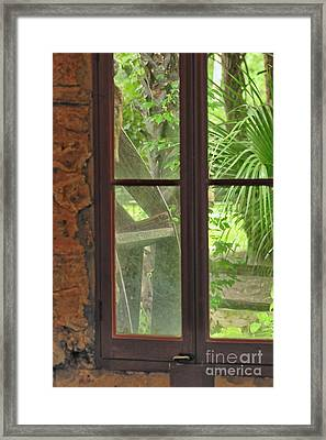Through The Window Back In Time Framed Print by Wayne Nielsen