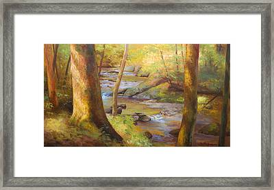 Through The Woods Framed Print by Jonathan Howe