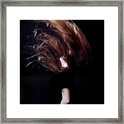 Throwing Hair Framed Print by Joana Kruse