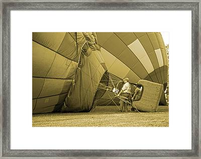 Throwing It To The Fire Framed Print by Betsy Knapp