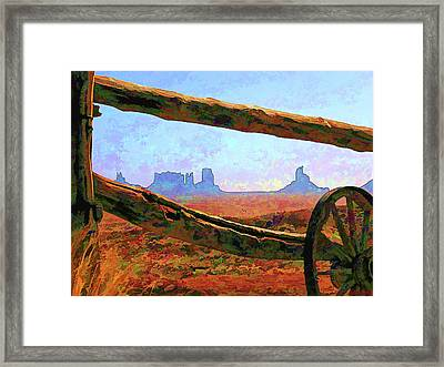 Thru The Fence Framed Print