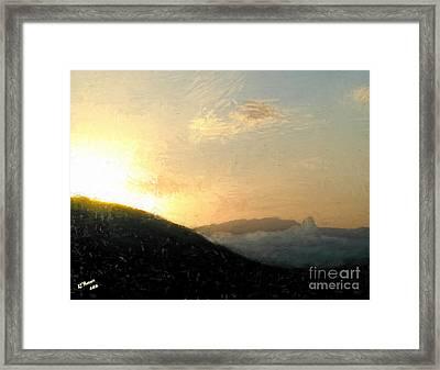 Thumb Butte Framed Print by Arne Hansen