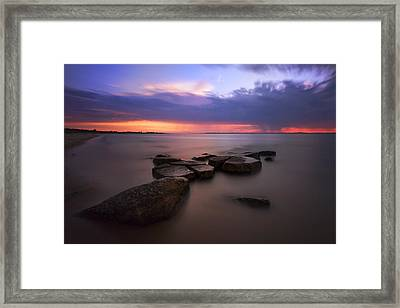 Thunder Across The Bay Framed Print by Rick Berk