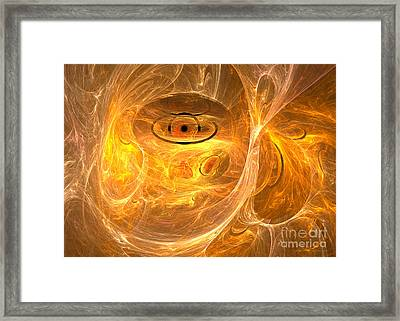 Thunder Eye - Abstract Digital Art Framed Print by Sipo Liimatainen