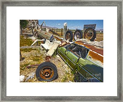 Thunder Mountain Indian Monument -  Car Wall Framed Print by Gregory Dyer