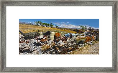 Thunder Mountain Indian Monument - Great Wall Framed Print by Gregory Dyer