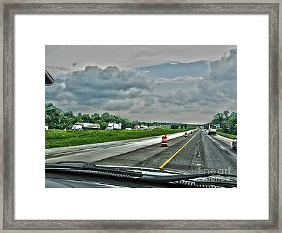 Thunder Road Framed Print by Alan Look