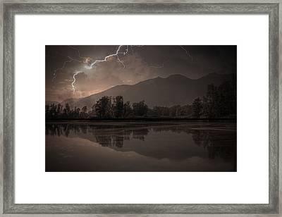 Thunder Storm Framed Print by Joana Kruse