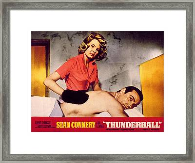 Thunderball, Molly Peters, Sean Framed Print