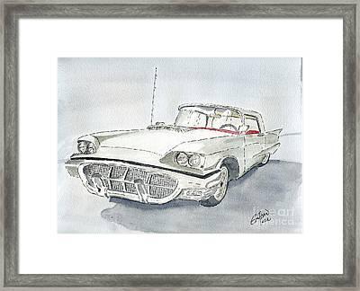 Thunderbird 1960 Framed Print by Eva Ason