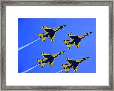 Thunderbirds Ascending Framed Print by Michael Wilcox