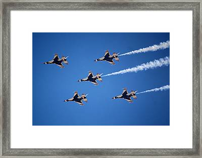 Thunderbirds Framed Print by Karen M Scovill