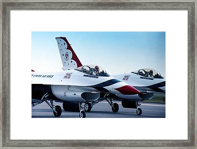Thunderbirds Framed Print by Lynnette Johns