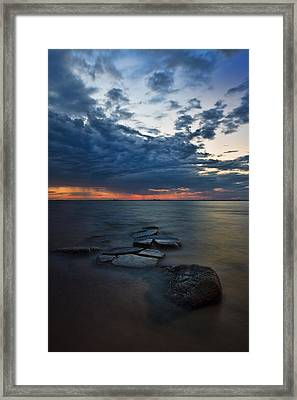 Thunderclouds On The Bay Framed Print by Rick Berk