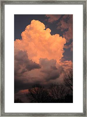 Framed Print featuring the photograph Thunderhead In Twilight by Scott Rackers