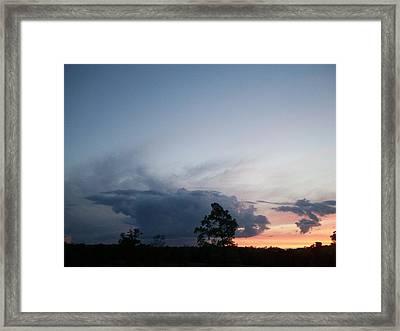 Thunderhead Framed Print by Wide Awake Arts