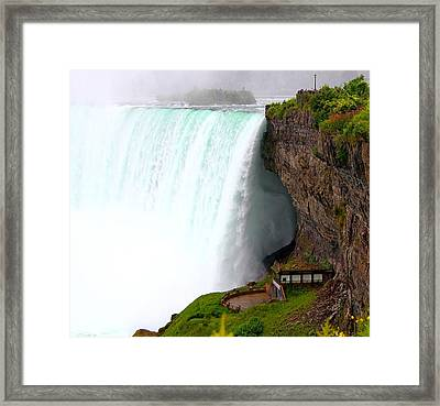 Framed Print featuring the photograph Thundering Force by Davandra Cribbie