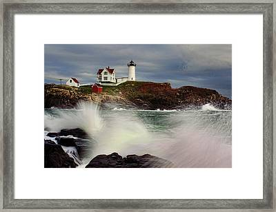 Thundering Tide Framed Print by Rick Berk