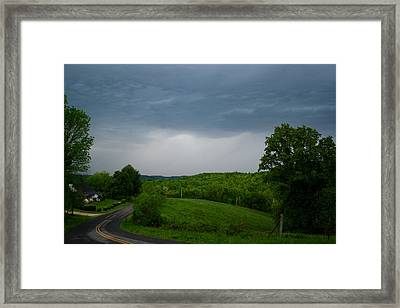 Framed Print featuring the photograph Thunderstorm by Kathryn Meyer