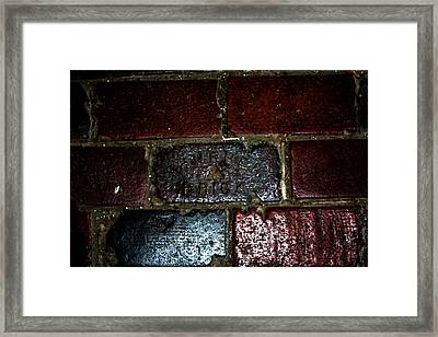 Thurber Brick Framed Print