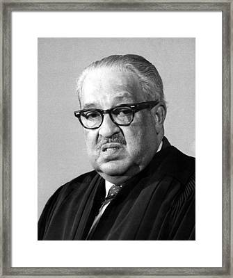 Thurgood Marshall 1908-1993 Associate Framed Print by Everett