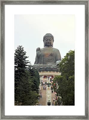 Tian Tan Buddha Framed Print by Valentino Visentini